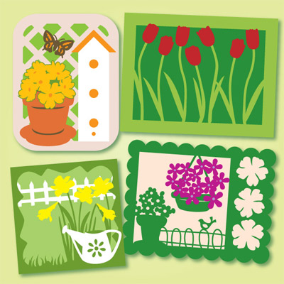 Samantha's Spring Notecard SVG Kit