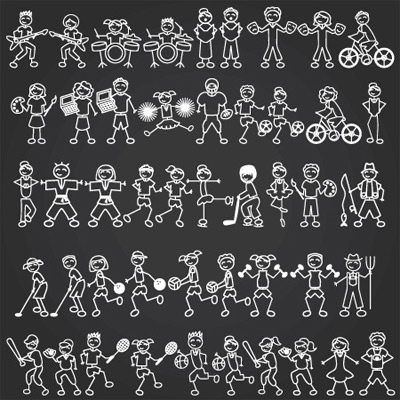 Stick Figure Sports and Activities SVG Collection