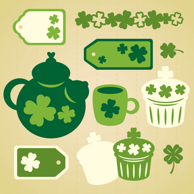 St. Patrick's Day Cupcake Party SVG Collection