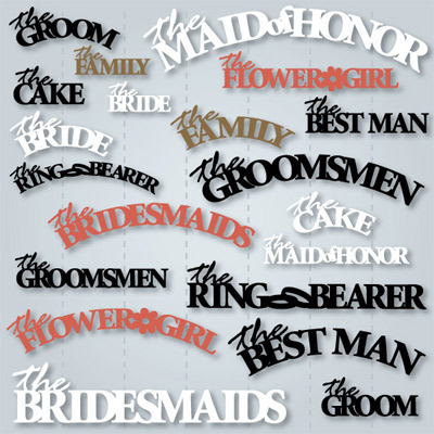Wedding Party SVG Collection
