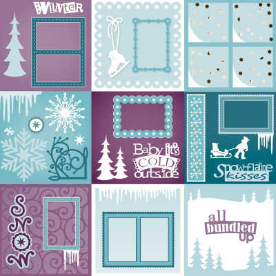 Scrapbook Pages SVG Files For Cricut Silhouette Sizzix