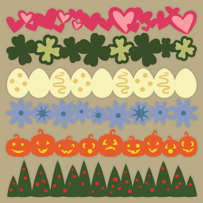 Seasonal Strips SVG Collection - Click Image to Close
