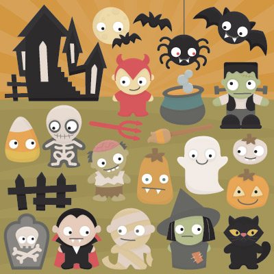 Spooky Cuties SVG Collection