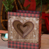 Stitched Heart Gift Bag