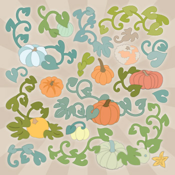Heirloom Pumpkin Flourishes SVG Collection