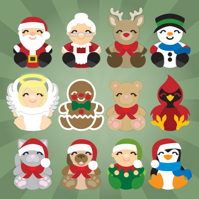 Christmas Cuddly Friends SVG Collection
