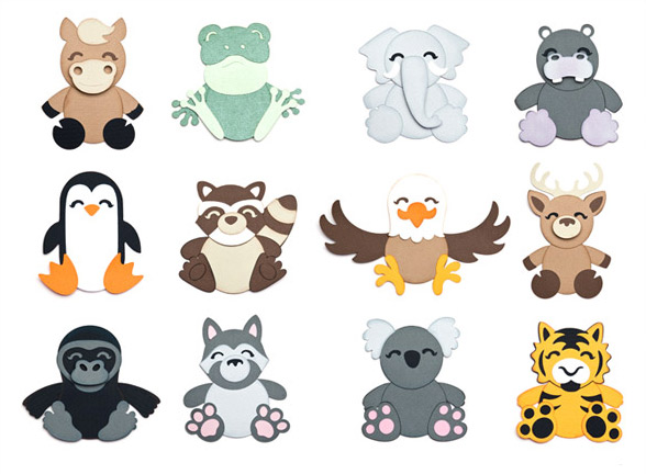 Cuddly Animals Part II SVG Collection
