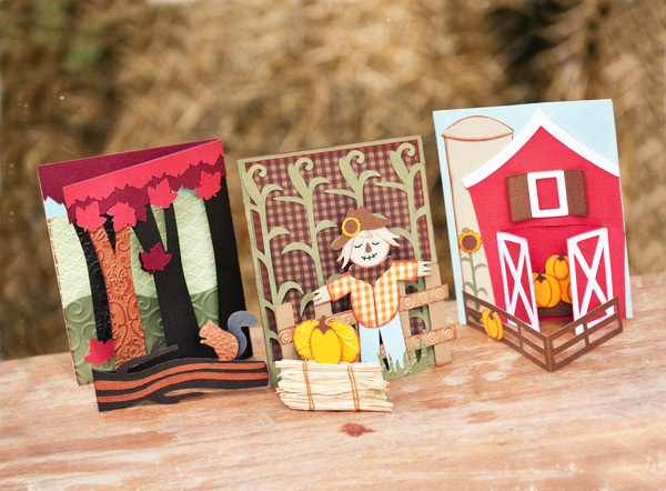 September Scenes Stand-Up Cards SVG Kit