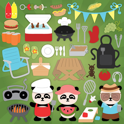 Panda Picnic Party SVG Collection