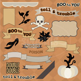 Toil and Trouble SVG Kit