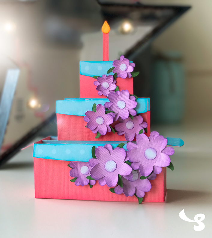 Triple-Layer Cake Box Card