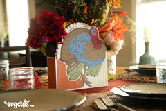 Turkey Centerpiece and Card SVG Kit